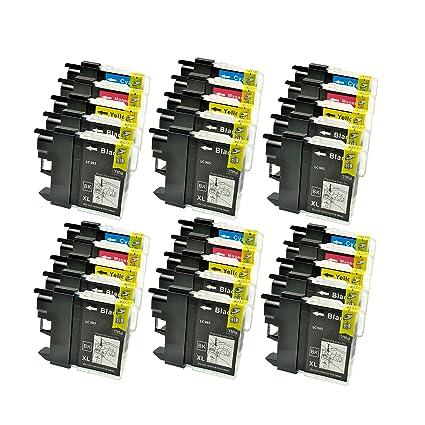30 Cartuchos de Tinta (Impresora Cartuchos) para Brother DCP J 125 ...