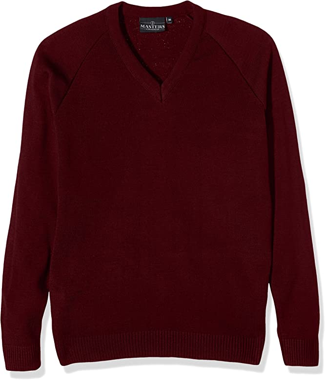 J Masters Schoolwear Boys Unisex V Neck Knitted School Jumper