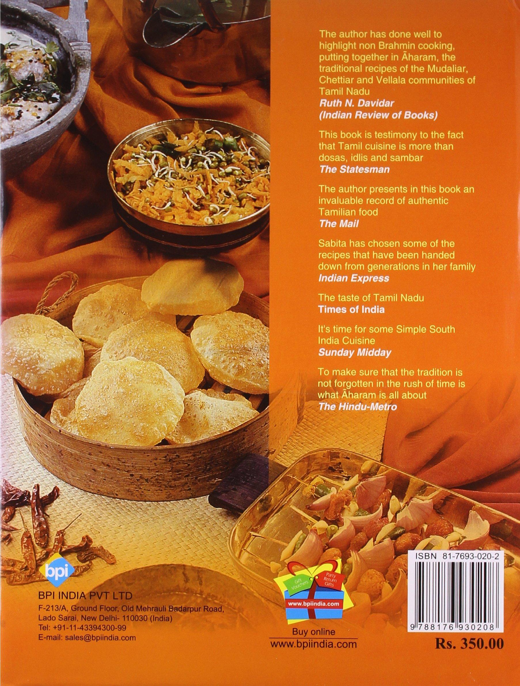 Aharam traditional cuisine of tamil nadu s radhakrishnan aharam traditional cuisine of tamil nadu s radhakrishnan 9788176930208 amazon books forumfinder Gallery