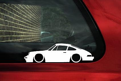 bajar de silueta de coche – adhesivo para Porsche 911, 930 Carrera