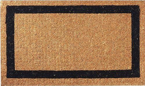 Envelor Home and Garden Handwoven, Extra Thick Doormat, Outdoor Rugs Durable Coir, Outdoor Doormat, Welcome Mat Entryway Door Mat For Patio,Coir Doormat 24 x 39, Classic Black Border