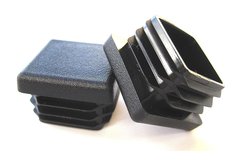 Prescott Plastics 100 Pack: 1 Inch Square Plastic Plug, Tubing End Cap, Durable Chair Glide PVB413