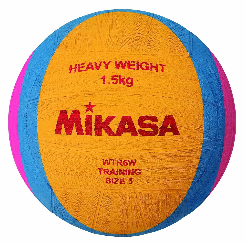 Mikasa, Palla giochi acquatici Wasserball WTR6W, Multicolore (Organe/Blau/Rot), Misura 5 1214