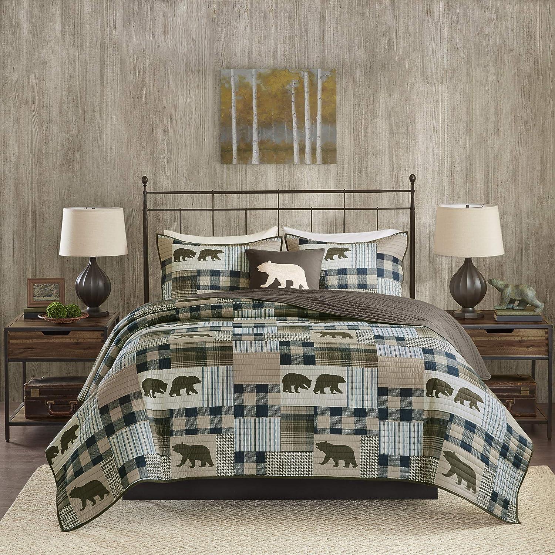 Woolrich Twin Falls Quilt Set, King/Cal King, Brown/Blue
