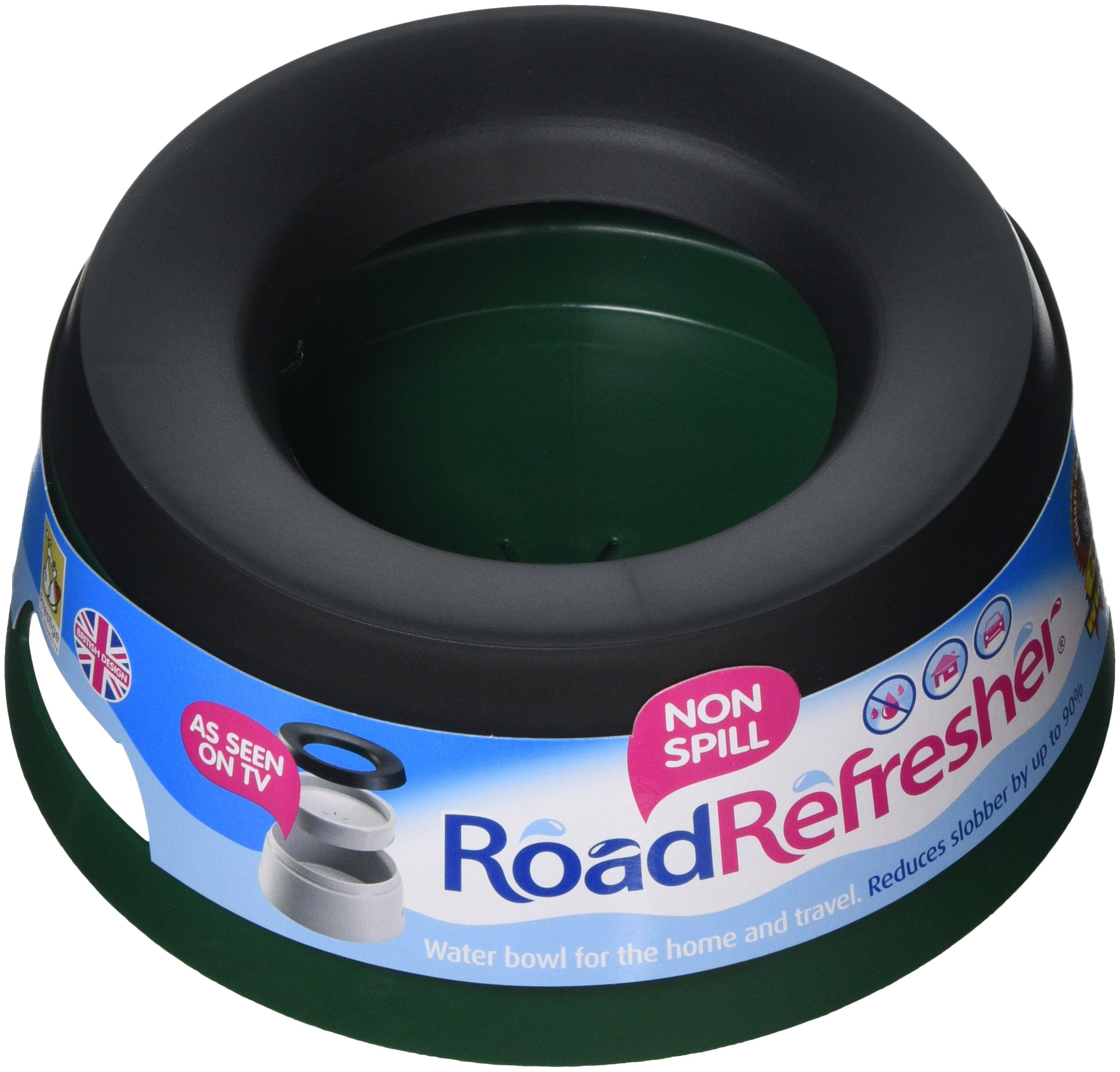 Prestige Road Refresher Non Spill Water Bowl (Large) (Green)
