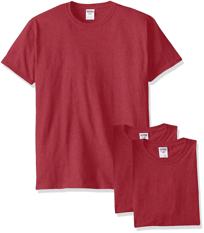 Jerzees メンズ 大人用 半袖Tシャツ(3枚組) B00T7U9N4I M|Vintage Heather Red Vintage Heather Red M