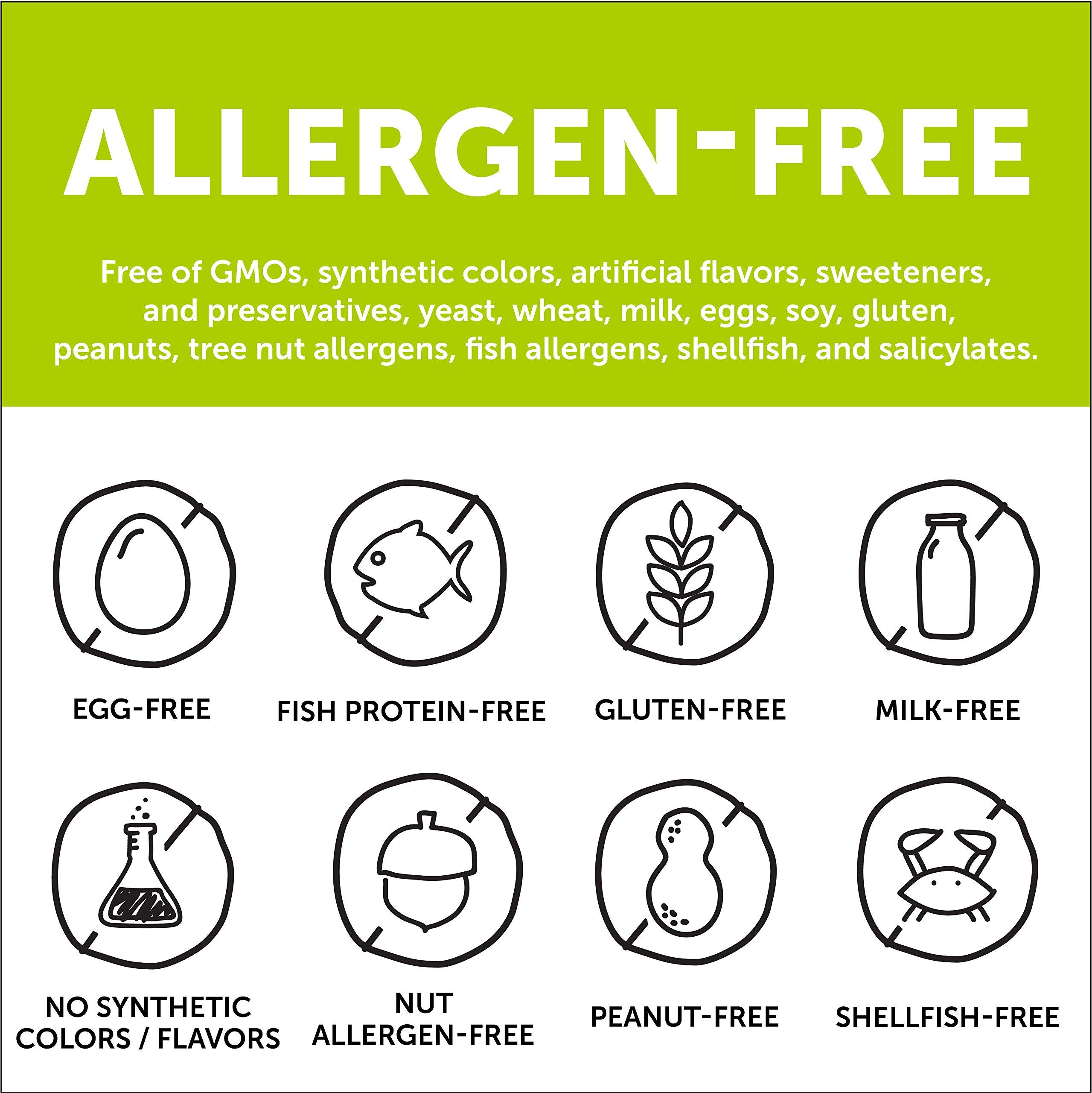 SmartyPants Vegetarian Organic Kids Daily Gummy Vitamins: Multivitamin, Gluten Free, Non-GMO, Omega-3, Probiotic, Vitamin D3, Methylcobalamin B12, Zinc; 120 Count (30 Day Supply) by SmartyPants Vitamins (Image #9)