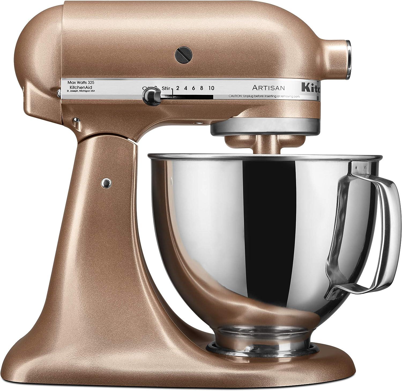 KitchenAid KSM150PSTZ Artisan Stand Mixers, 5 quart, Toffee Delight (Renewed)