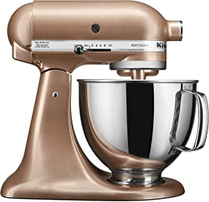 KitchenAid KSM150PSTZ Artisan Stand Mixers, 5 quart, Toffee Delight (Renewed)