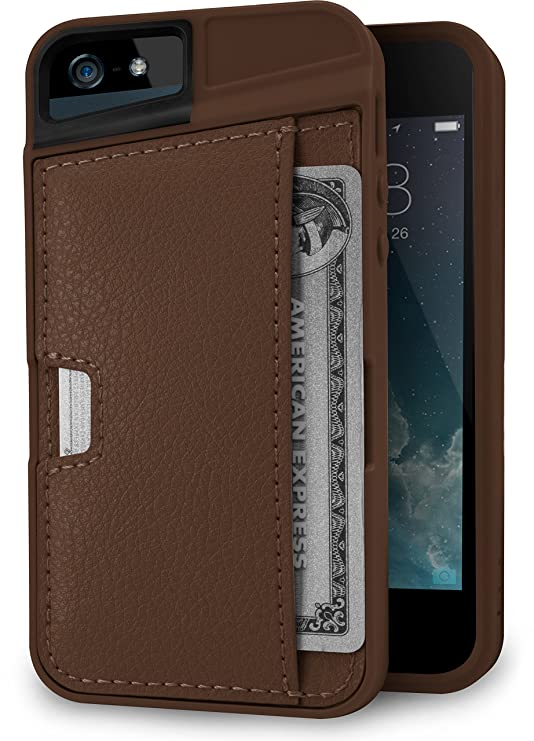 Silk I Phone Se / 5 / 5s Wallet Case   Wallet Slayer Vol. 2 [Slim Protective Q Card Case Credit Card Cover]   Brown Fabric by Silk