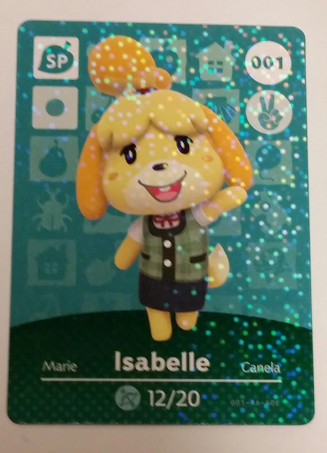 Amiibo Card Animal Crossing Happy Home Design Card ISABELLE 001/100 SP