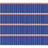 ZJchao 100pcs Kinder Spielzeug Schusswaffe Geschoss Dart Round Head Blasters Für NERF N-Strike Blau Farbe