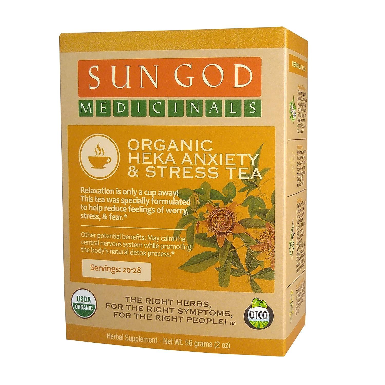 Certified Organic Herbal Tea | Heka Anxiety & Stress Loose Leaf Herbal Tea | Sun God Medicinals | 2 oz | 18-24 servings sleeping pills or otc sleep aids Sleeping pills or OTC sleep aids – risks and side effects 91CU2FXfnSL
