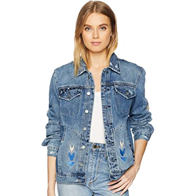 [BLANKNYC]]]]]] Blank NYC Womens Embroidered Denim Jacket in Pub Crawl at Amazon Women's Coats Shop