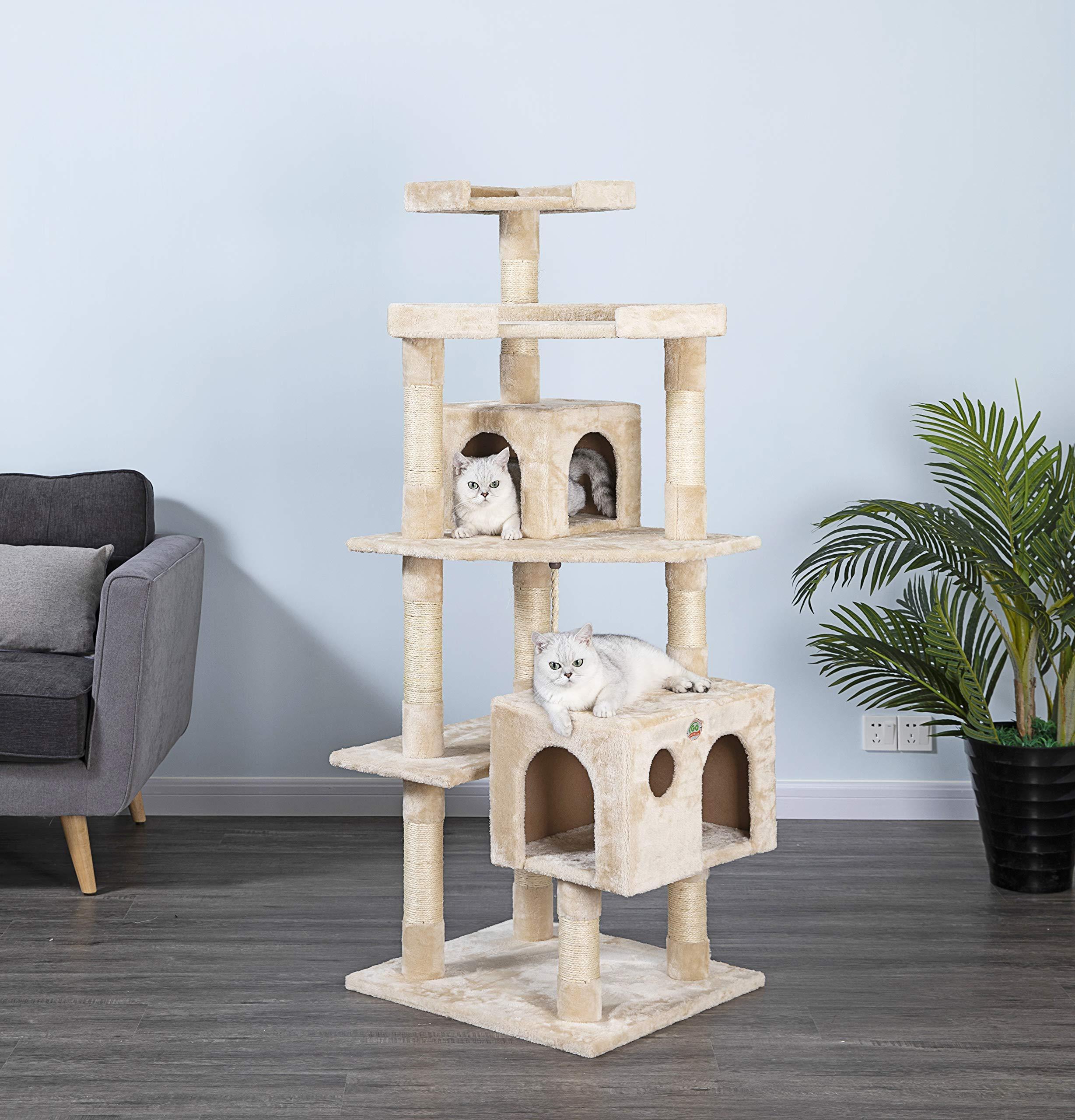 Go Pet Club Cat Tree Condo Scratcher Post Pet Bed Furniture