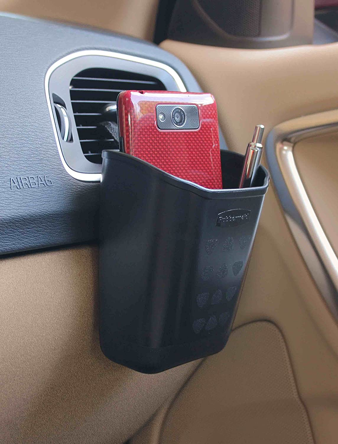 Hard Sided Remington Industries Cell Phone//Sunglasses Car Caddy Rubbermaid 3331-00 Automotive Air Vent Catch All Storage Organizer