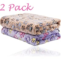 iNNEXT 2 Pack Puppy Blanket for Pet Cushion Small Dog Cat Bed Soft Warm Sleep Mat, Pet…