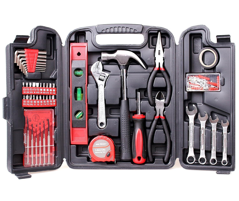 Cartman Multi Haushalts-Werkzeugkoffer 136-Teilige Werkzeugset DIY Reparatur Werkzeuge Kits Set 4333093918