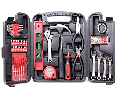 3c5b1121758 Amazon.com  CARTMAN 136-Piece Tool Set - General Household Hand Tool Kit  with Plastic Toolbox Storage Case  Automotive