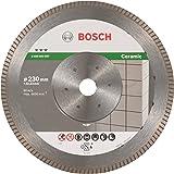 BOSCH Diamanttrennscheibe Best für Ceramic Extra-Clean Turbo, 230 x 22,23 x 1,8 x 7 mm, 2608603597