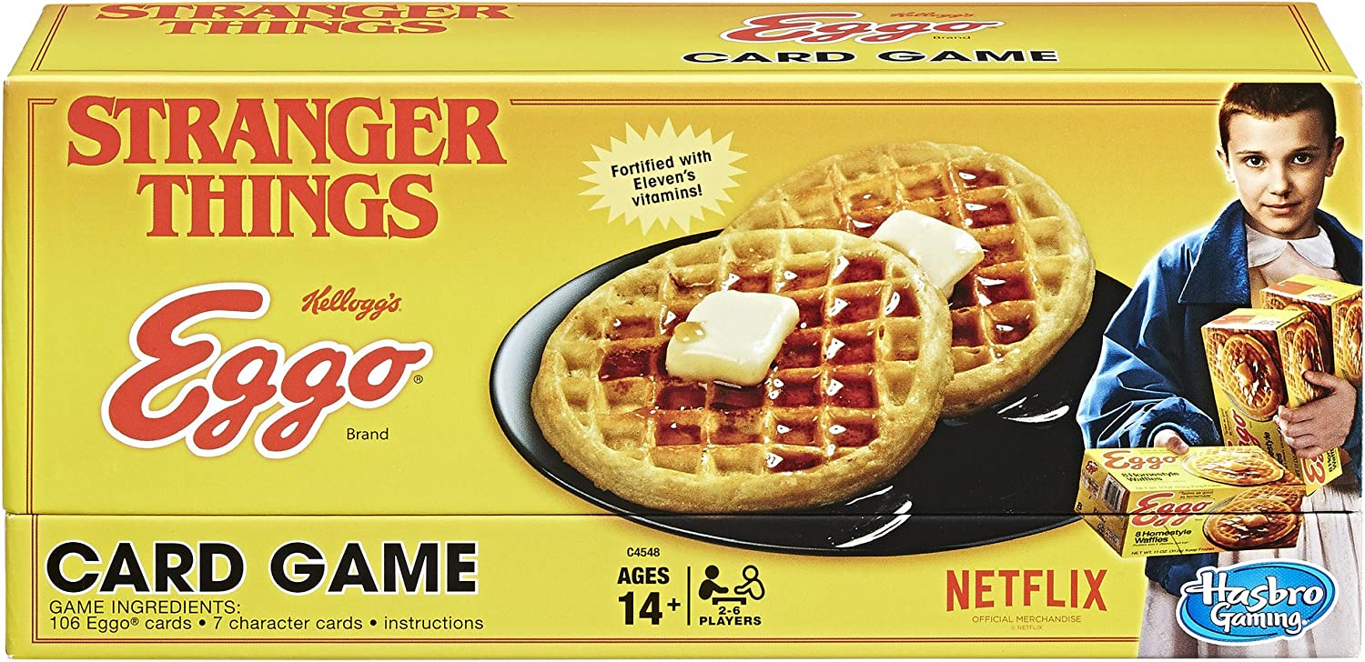 Hasbro Stranger Things Eggo Naipes: Amazon.es: Juguetes y juegos