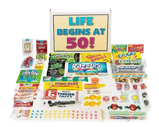 50th fiesta de cumpleaños Celebration cesta regalo caja de ...