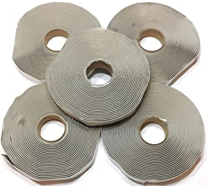"Colorimetrics Gray Putty Tape / Butyl Tape 1/8"" x 3/4"" x 30' (5-Pack)"