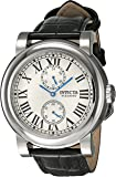 Invicta Men's I-Force Black Leather Band Steel Case Quartz Silver-Tone Dial Analog Watch 22255