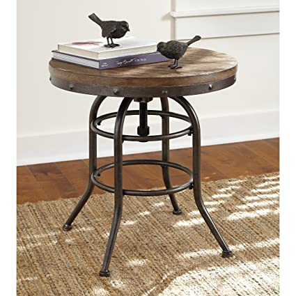 Spin Top For Adjustable Height Vennilux Chair Side End Table  Grayish Brown