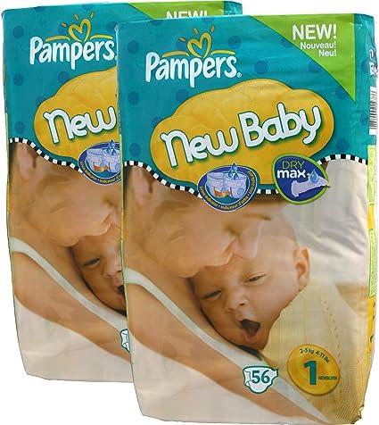 112 Pampers Pañales, New Baby, Recien nacidos, Talla. 1,2-5kg, con ...