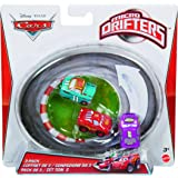 Cars Micro Drifters Mario Andredi, N20 Cola and Lightning McQueen Vehicle, 3-Pack