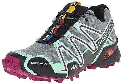 Salomon Women\u0027s Speedcross 3 CS W Trail Running Shoe, Light TT/Lucite Green/