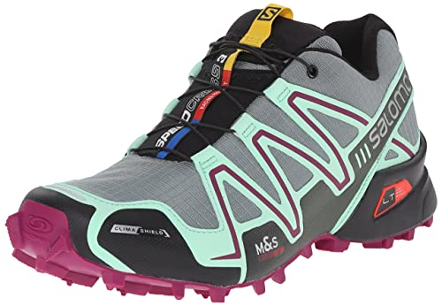 best website 8294e 4879f SALOMON Women s Speedcross 3 CS W-W, Light TT Lucite Green Mystic Purple,