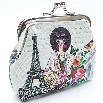 CREAVVEE® Paris Mini Monedero Monedas Bolsa Bolsa Varios ...