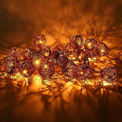 Image Unavailable. Image not available for. Color: Christmas Lights 20 ... - Amazon.com : Christmas Lights 20 (Bulbs 2.6 Inches) Brown 20 Rattan