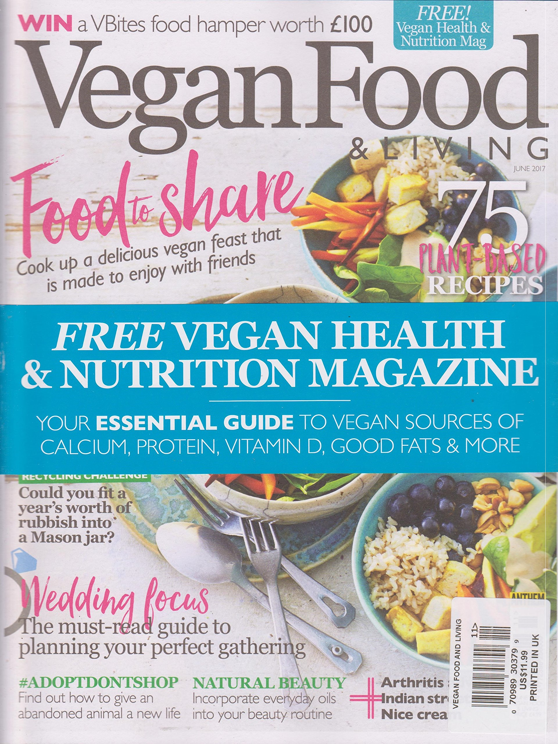 Vegan Food Living Magazine June 2017 Various Amazoncom
