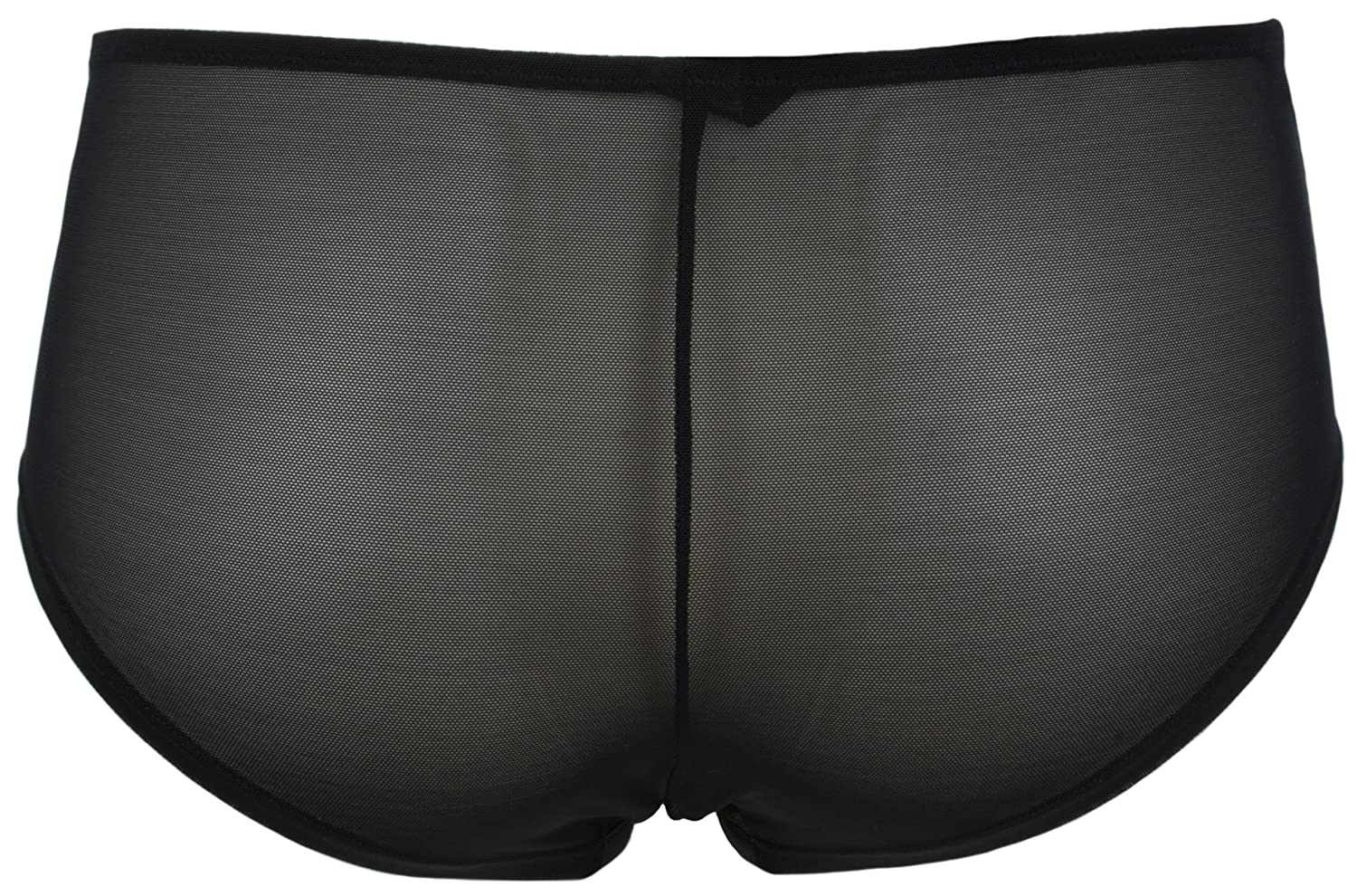 Ultimo Opium Overlay Mesh Shortie Briefs with Lace Trim