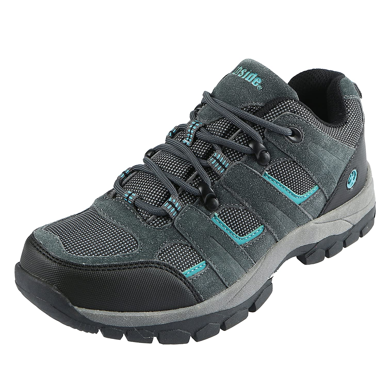 Northside Women's MONROE LOW Hiking Shoe B00MGQVXQG 8 B(M) US|Dark Gray/Dark Turquoise