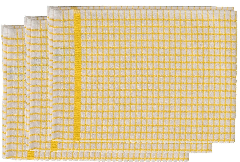 Poli Dri Premium Quality Kitchen Tea Towels by Lamont, BLACK, 3 Pack QPC Direct