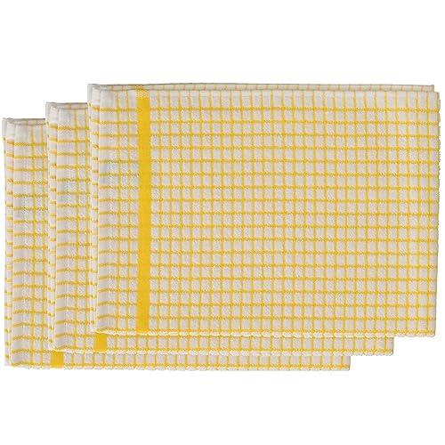 Quality Tea Towels Uk: Yellow Tea Towels: Amazon.co.uk