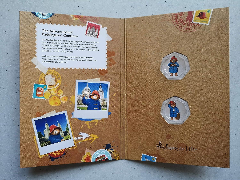The Royal Mint 2019 Paddington Bear 50p Fifty Pence Coin Album Folder New