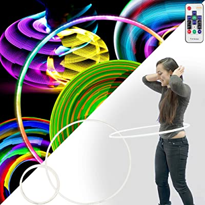 Echo SuperGlow - 153 LED Remote Control Glow Hula Hoop - 85cm: Sports & Outdoors