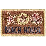 """DII Natural Coir Doormat, Home Sweet Home Mat, Beach House, 18x30"""""""