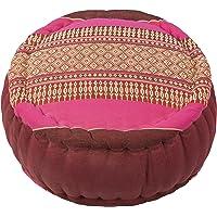 Handelsturm Zafu meditatiekussen met vulling van kapok 34 x 15 kleurrijk kussen voor zitmeditatie Lotussitz of Zen…