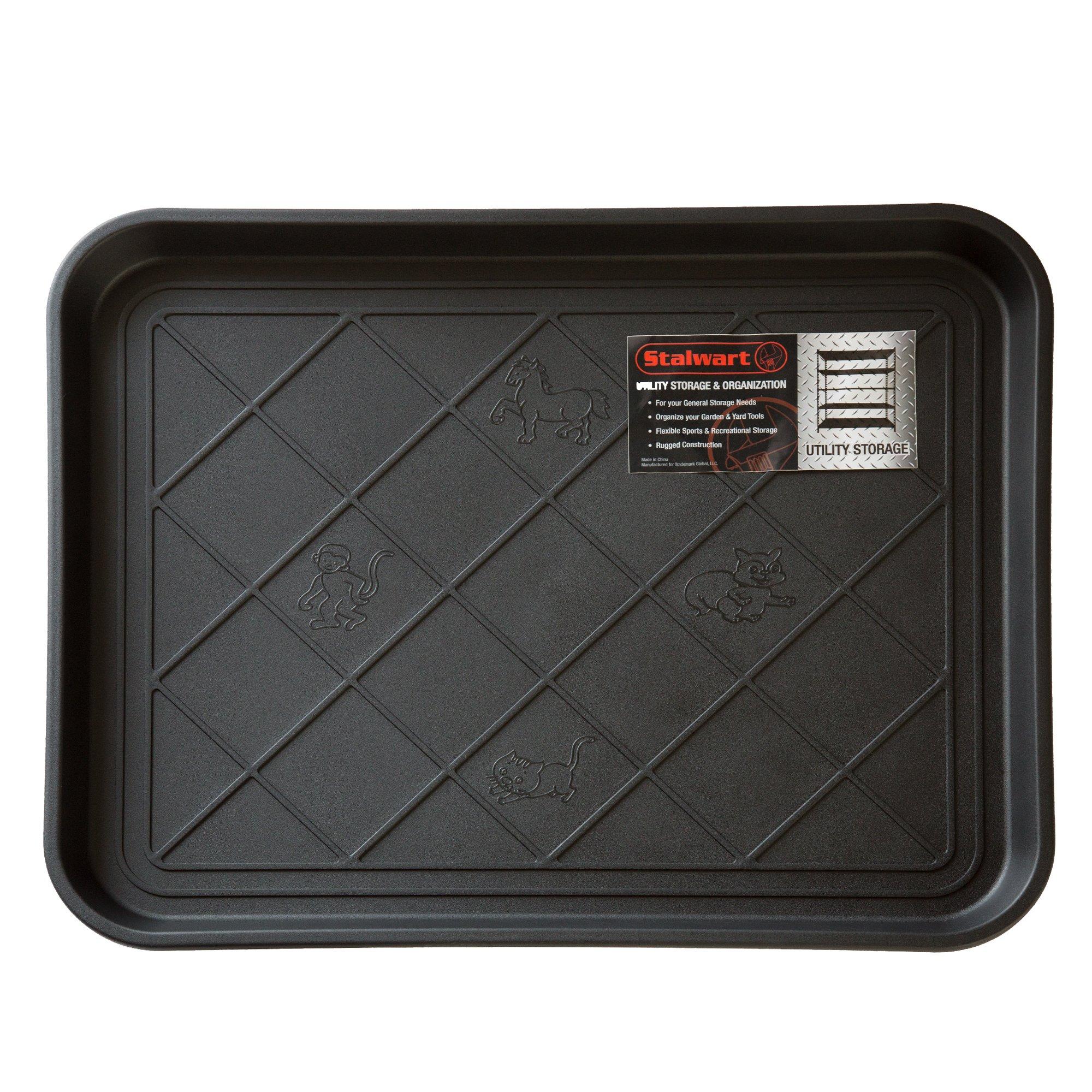 Stalwart 75-ST6013 ECO Friendly Utility Boot Tray Mat, 20'' x 15''/Small, Black