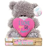 "Me to You SG01W4092 6-Inch Tall ""Tatty Teddy I Love You with All My Heart Bear Sits"" Plush Toy"