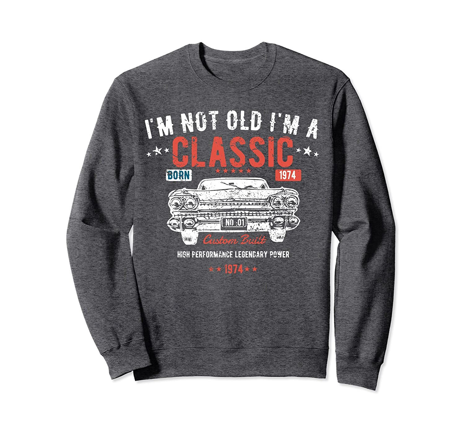 44th Birthday Shirt   I'm Not Old I'm a Classic Born 1974-Protee