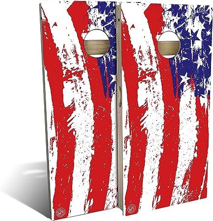 Slick Woody/'s 3 STRIPE AMERICAN FLAG Cornhole Board Game Set USA Made Quality!