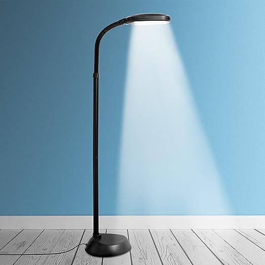 Kenley Lámpara de Pie LED 12W Regulable - Luz del Dia Natural para Lectura - Iluminación