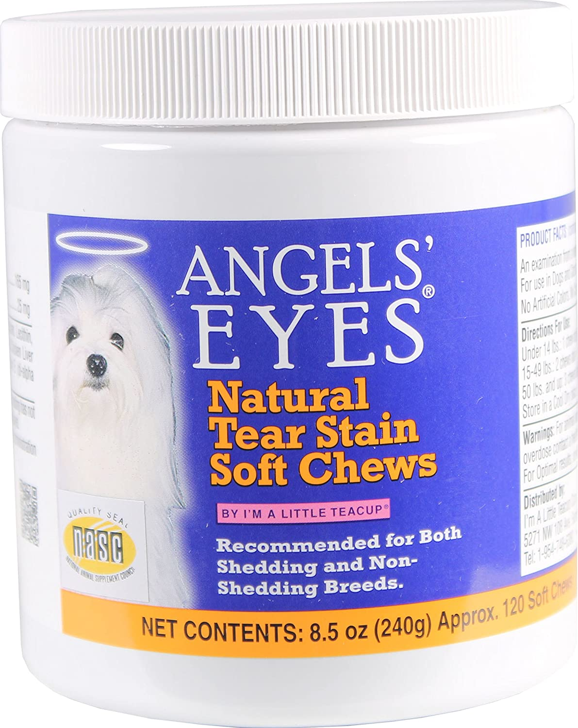 ANGELS' Eyes 240 Count Natural Chicken Formula Soft Chews for Dogs Angels' Eyes AENSC240D